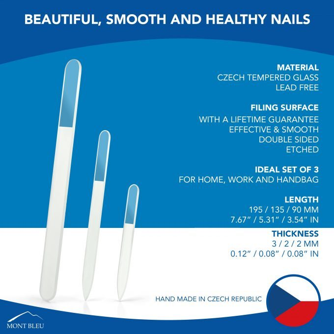 Set of 3 Glass Nail FIles T-BMS