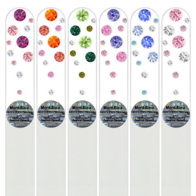 Set of 6 Glass Nail Files W-M1-6