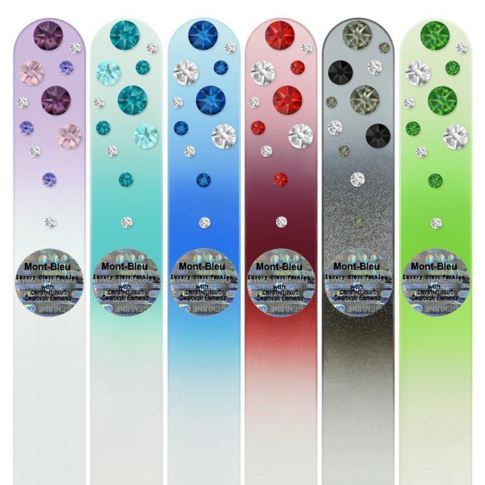 Set of 6 Glass Nail Files WC-M1-6