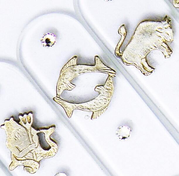 Set of 12 Zodiac Glass Nail Files Z