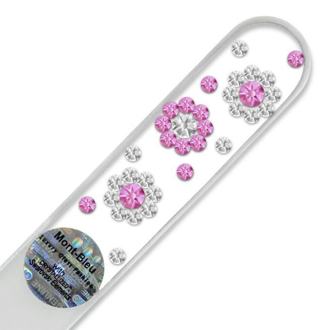 Mont Bleu 3 Flowers Crystal Nail File LE-2