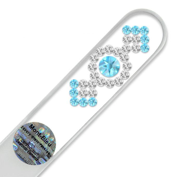 Mont Bleu Ornament Crystal Nail File LE-3