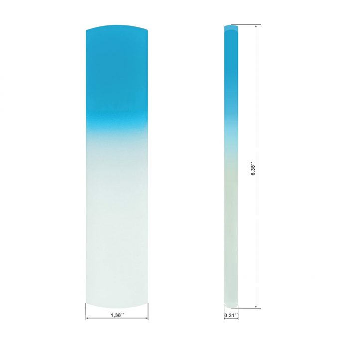 Original Foot Scraper & Callus Remover - all in one Glass Foot File | Blue