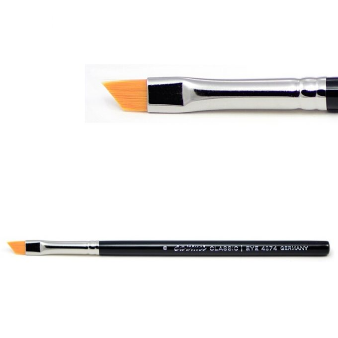 Eye-liner brush with superfine golden synthetic fibres 4374-8