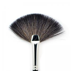 Fan brush with extra fine mountain goat hair 4774