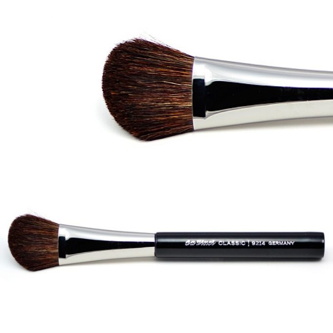Contour brush with brown mountain goat hair 9214