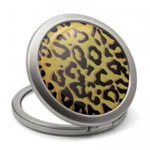 Leopard Print Compact Mirror