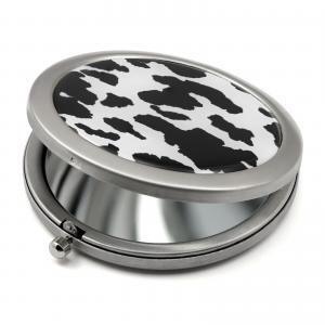 Cow Print Compact Mirror