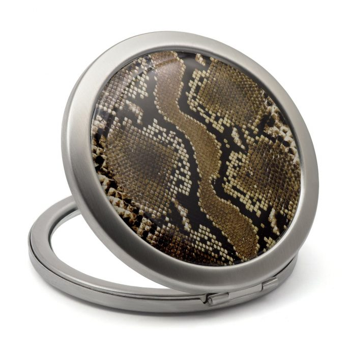 Snake Print Compact Mirror