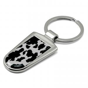 Cow Print Key Ring