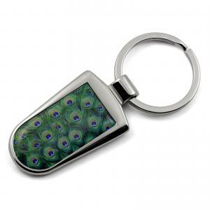 Peacock Print Key Ring