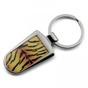 Tiger Print Key Ring