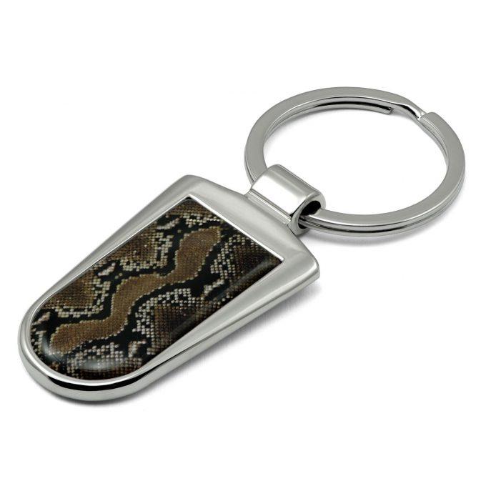 Snake Print Key Ring