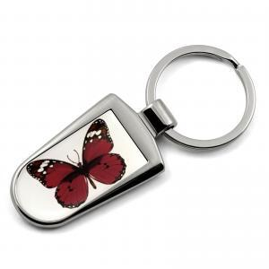 Butterfly Print Key Ring