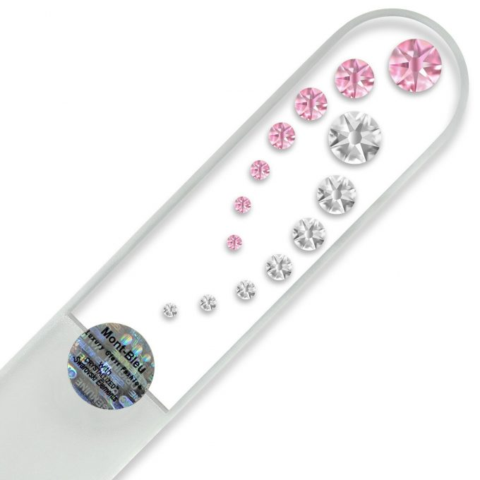 Mont Bleu Large Glass Nail File with crystals CO-B