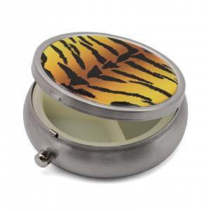 Pill Box with Tiger Print