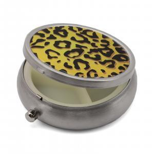 Pill Box with Leopard Print