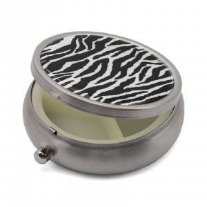 Pill Box with Zebra Print