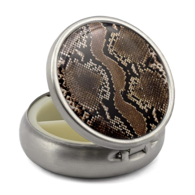 Pill Box with Snake Print