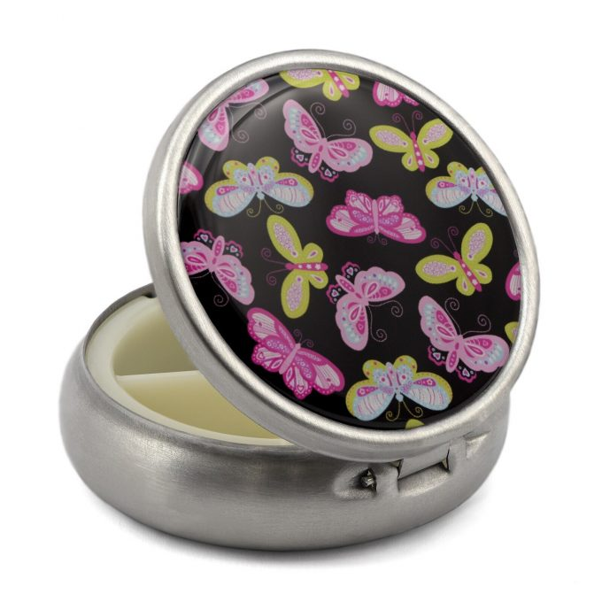 Pill Box with Butterflies Print