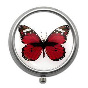 Pill Box with Butterfly Print