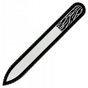 Zebra Print Glass Nail File