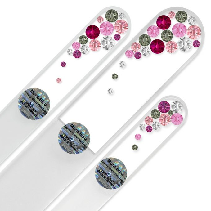 Set of 3 Czech Glass Nail Files with crystals B-BMS