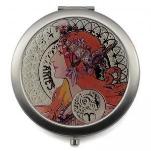 12 Zodiac Signs Compact Mirror