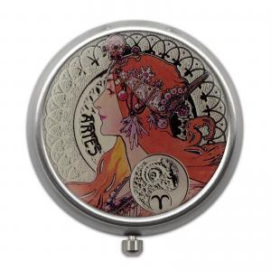 Pill Box with 12 Zodiac Signs