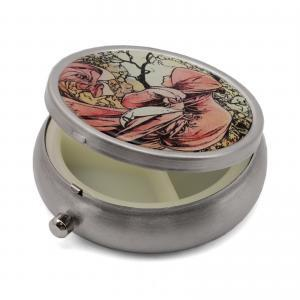 Pill Box with Four Seasons Designs