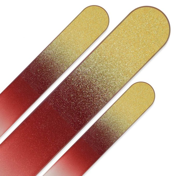 Set of 3 Rainbow Crystal Nail Files, Hand made of Czech tempered glass R-BMS2