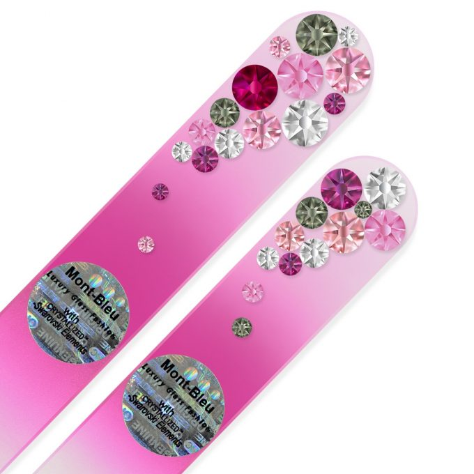 Set of 2 Czech Color Glass Nail Files with crystals BC-MS