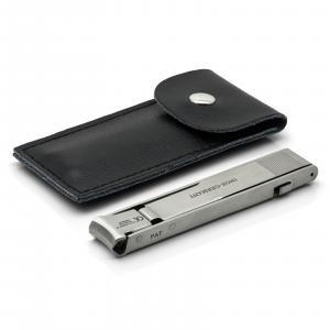 Otto Herder Folding Large Travel Nail Clippers, TSA friendly, Stainless Steel, made in Germany