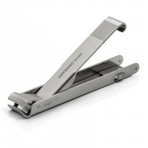 Hans Kniebes Folding Large Travel Nail Clippers, TSA friendly, Stainless Steel, made in Germany