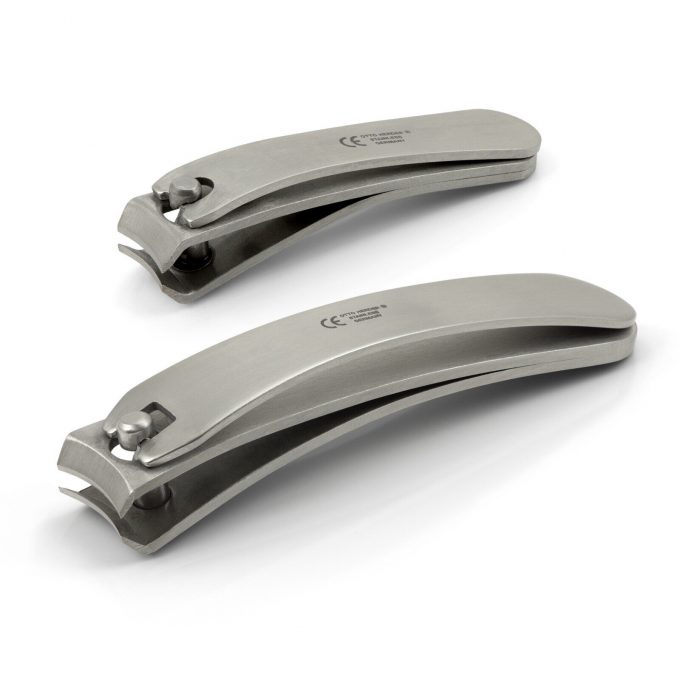 Otto Herder Set of 2 Bent Nail Clippers, Stainless Steel, made in Germany