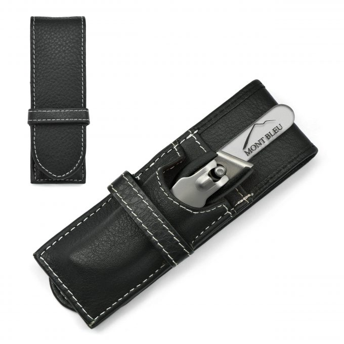 GÖSOL 2-piece Manicure Set with Nail Clippers & Nail File in Leather Case, Made in Solingen (Germany)