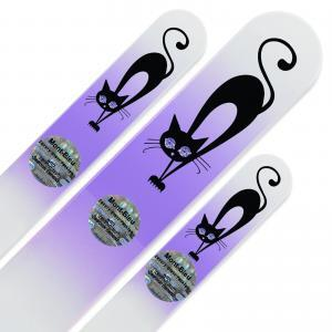 "Set of 3 Glass Nail Files ""Cat"" with Swarovski crystals"