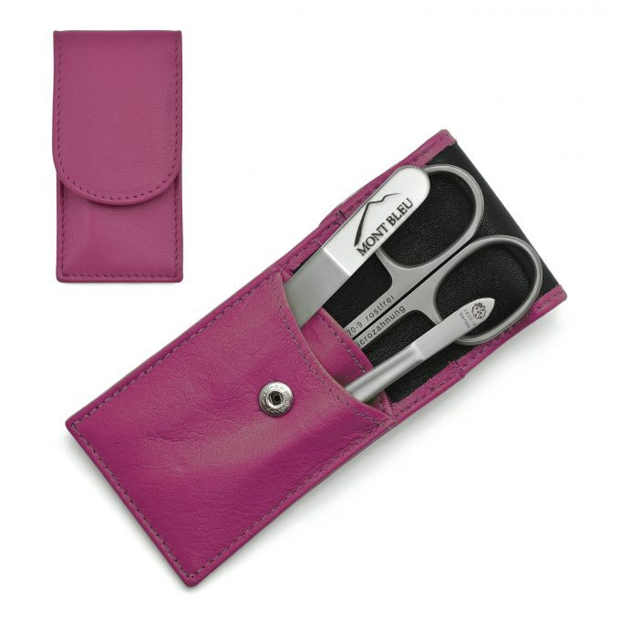 Hans Kniebes' Sonnenschein 3-piece Manicure Set in Nappa Leather Case, Made in Germany