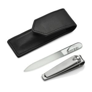 Hans Kniebes' Sonnenschein 2-piece Manicure Set with Nail Clipper in Leather Case, Made in Germany