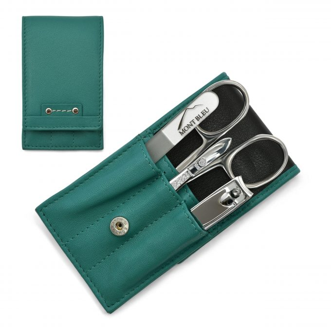 Hans Kniebes' Sonnenschein 4-piece Manicure Set in Nappa Leather Case, Made in Germany