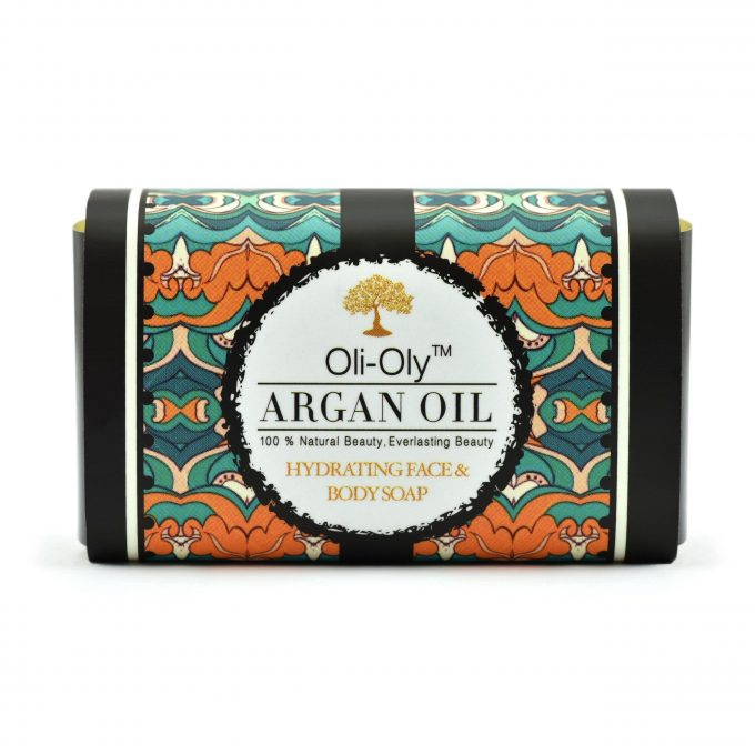 Oli-Oly Hydrating Face & Body Soap with Argan Oil, Scented
