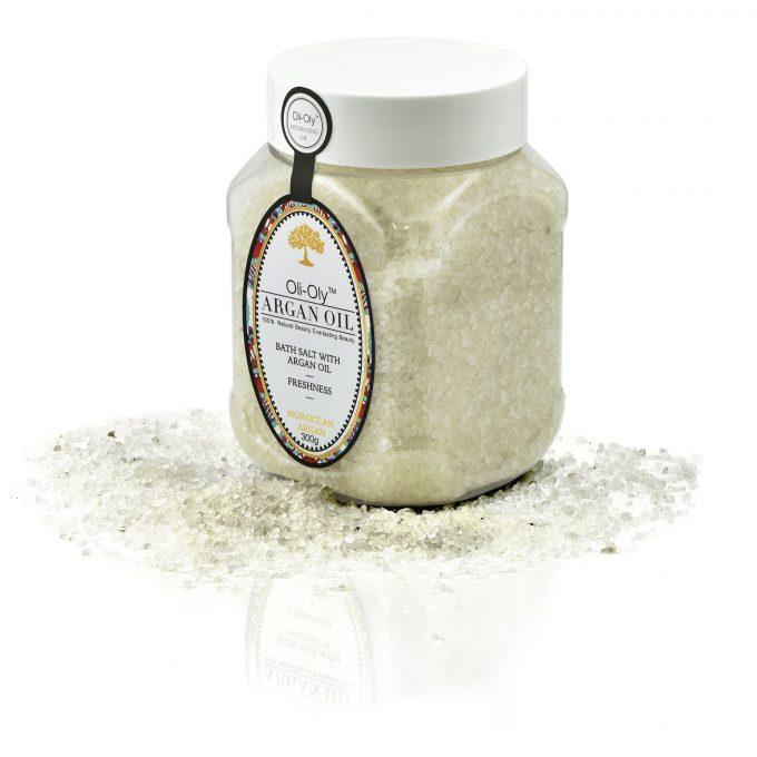 Oli-Oly Bath Salt with Argan Oil, 300g, Unscented