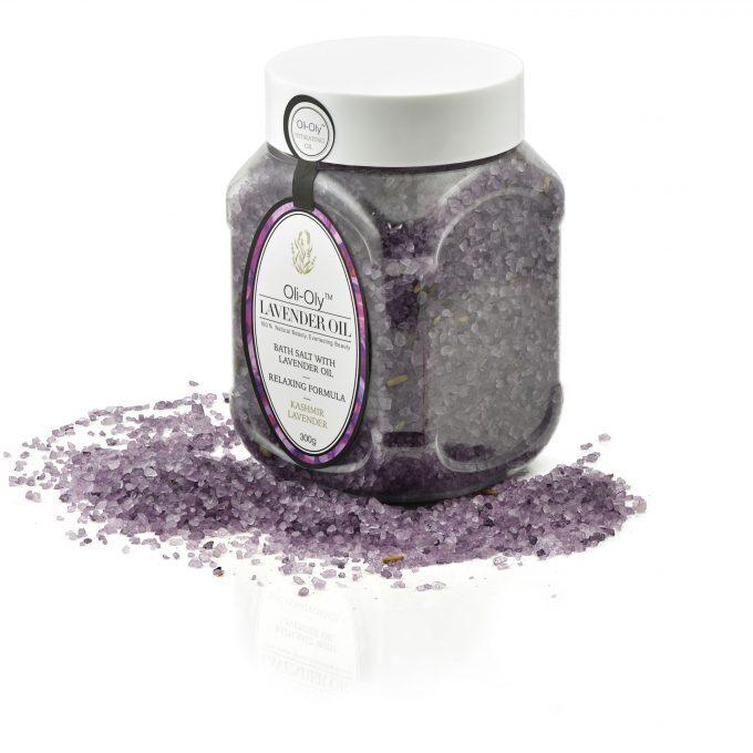 Oli-Oly Bath Salt with Lavender Oil, 300g
