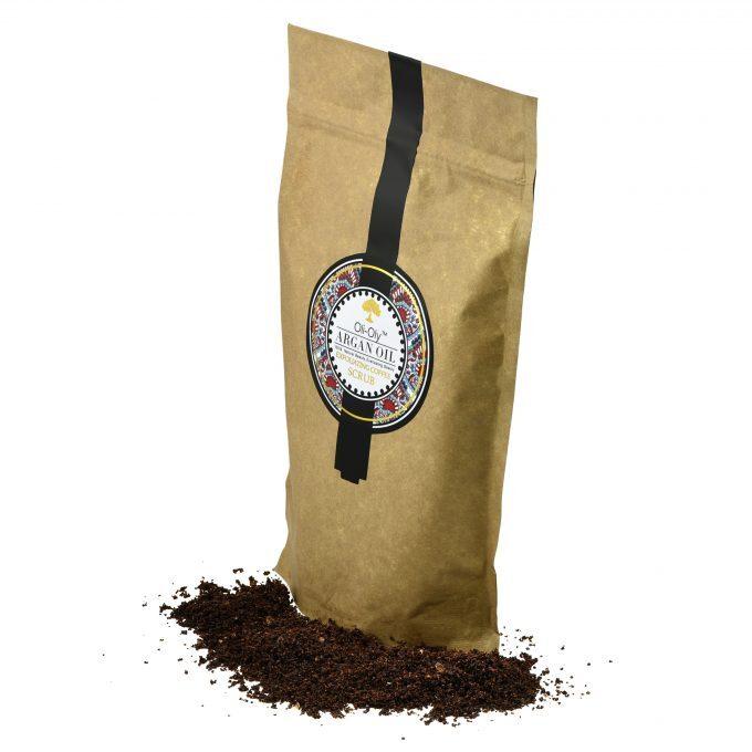 Oli-Oly Exfoliating Coffee Scrub with Argan Oil with Argan Oil, 150g, Unscented