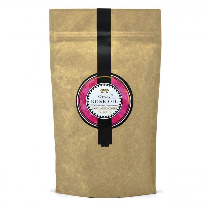Oli-Oly Exfoliating Coffee Scrub with Rose Oil, 150g
