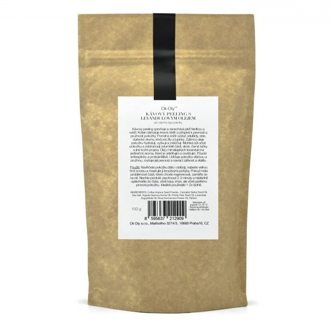 Oli-Oly Exfoliating Coffee Scrub with Lavender Oil, 150g