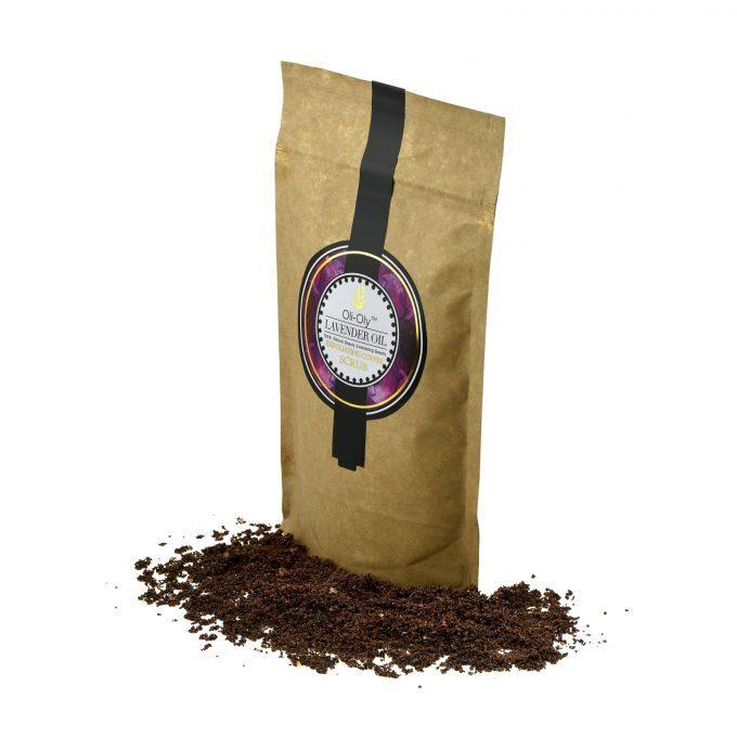 Oli-Oly Exfoliating Coffee Scrub with Lavender Oil, 80g