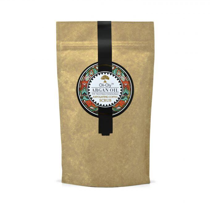 Oli-Oly Exfoliating Coffee Scrub with Argan Oil, 80g, Scented