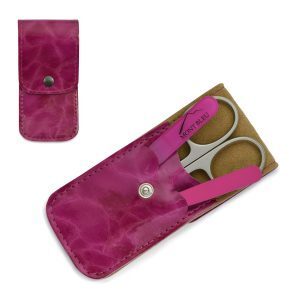 Mont Bleu 3-piece Manicure Set in Leatherette Case, Fuchsia