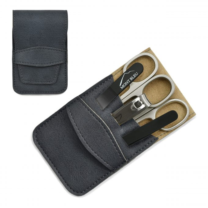 Mont Bleu 5-piece Manicure Set in Vegan Faux Leather Case